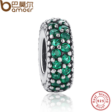 Buy New Gift Charms Fit Original Bracelet Necklace 925 Sterling Silver Inspiration Within Charm Spacer Green Crystals Beads PAS126 for $5.92 in AliExpress store