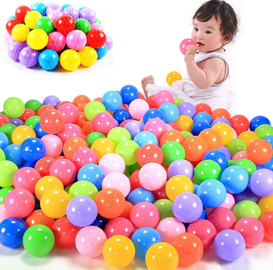 New Arrival 100pcs/lot 5.5cm Oversized Eco-Friendly Colorful Soft Plastic Water Pool Ocean Wave Ball Baby Outdoor Sports Toys(China (Mainland))