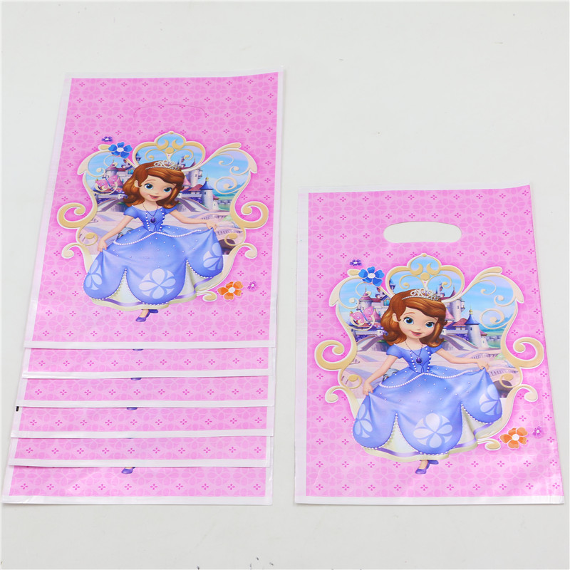 20pcs/lot princess cartoon printing theme party plastic bags baby shower birthday party gift bags packaging bags 18*25cm PP224(China (Mainland))