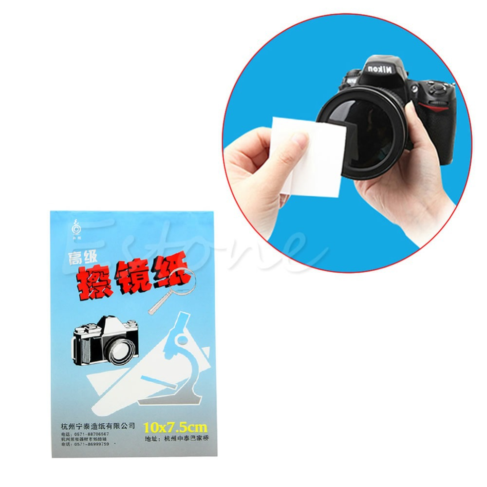 A96 Free Shipping 10pcs/lot 50 Sheets Soft Camera Lens Optics Tissue Cleaning Clean Paper Wipes Booklet(China (Mainland))