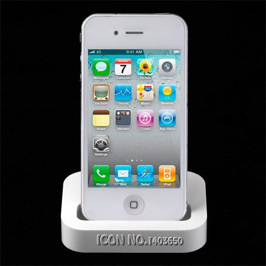 With Retail Box White Dock Station Charger New 2015 USB Desktop Cradle Docking Charger Dock stand Station For Apple iPhone 4 4S(China (Mainland))