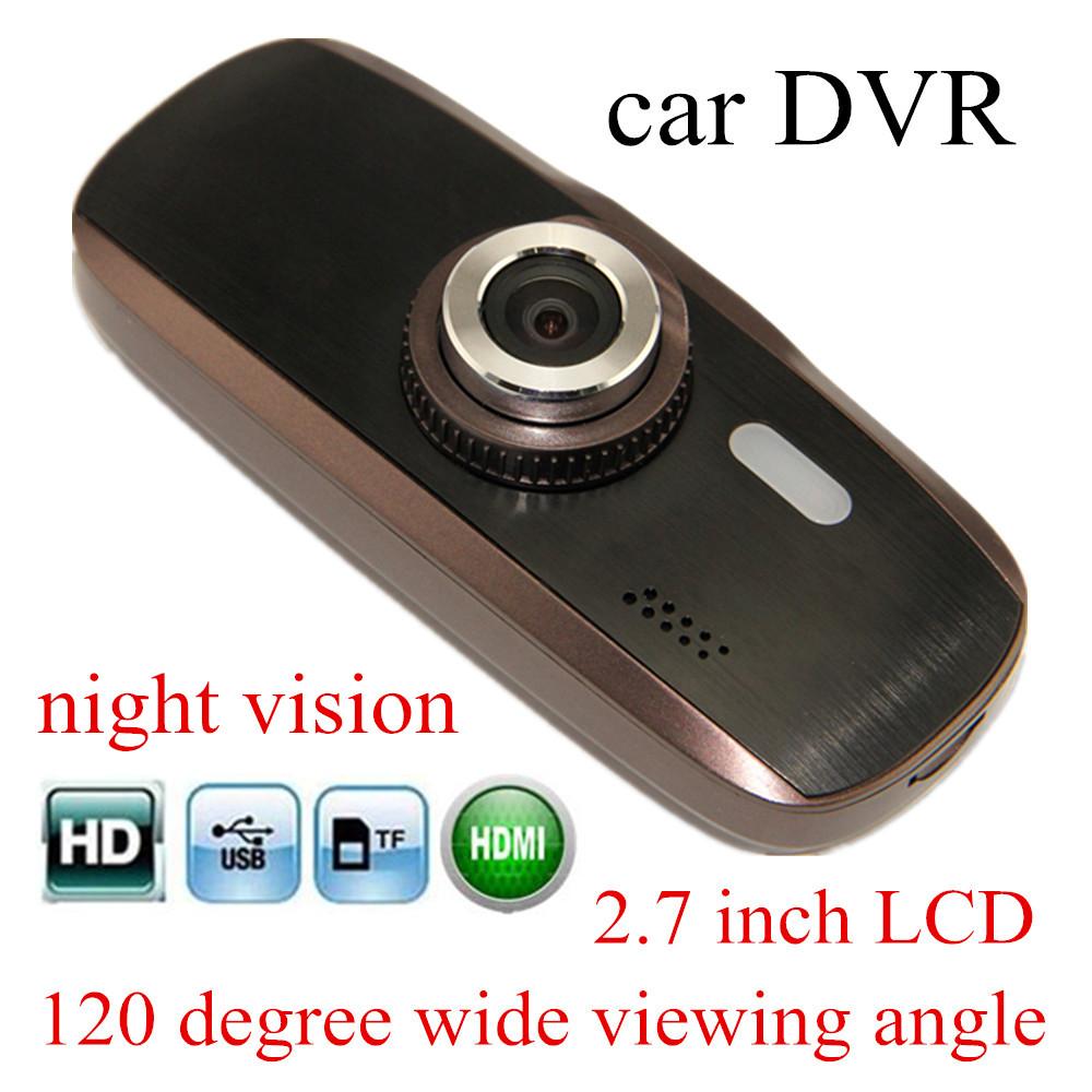 "freeshipping H200 Car DVR Full HD 2.7"" inch 120 degree Wide viewing G-sensor Night Vision Car Camera Recorder(China (Mainland))"