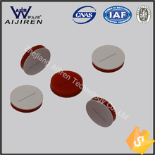 8*1.5mm Pre-slit  white PTFE/red silicone septa used for 8-425 HPLC analysis clear vial Chromatography Sample Vial(China (Mainland))