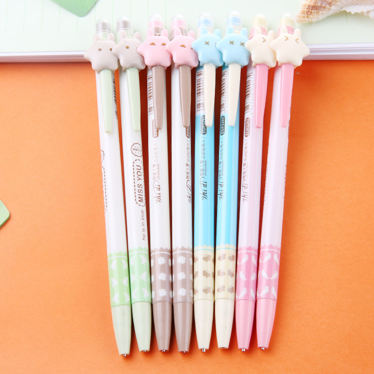 South Korea stationery cute Star automatic pencil cartoon activities pencil writing continuous pencil 0.7 core(China (Mainland))