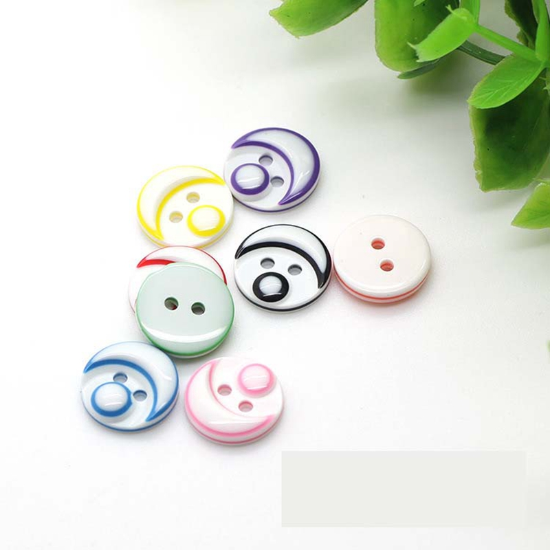 Button Babyface classic children's clothing wholesale candy -colored children's baby buckle clasp 14mm accessories for crafts(China (Mainland))