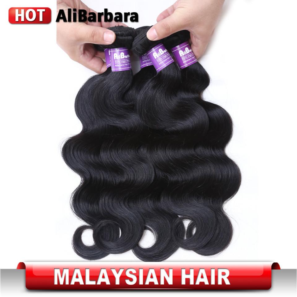 Malaysian virgin hair body wave 4pcs lot  unprocessed human hair weaves cheap malaysian body wave #1b malaysian hair body wavy(China (Mainland))