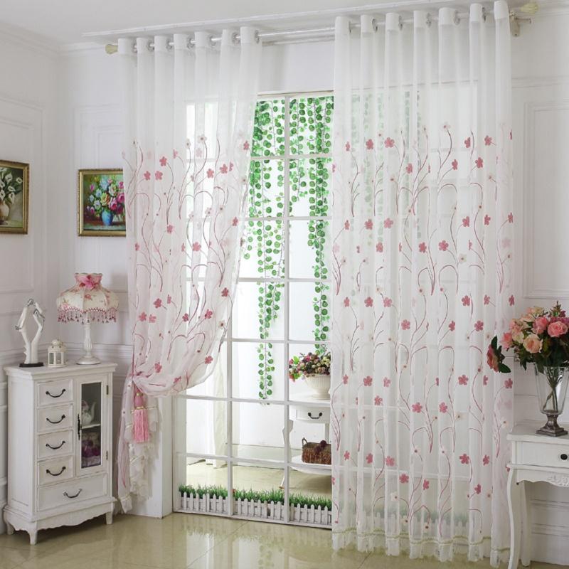 Promoción de cortinas transparentes de color de alta calidad ...