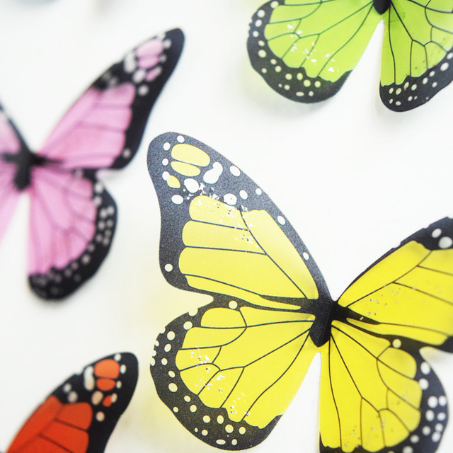 Crystal 18Pcs 3D Butterflies DIY home decor wall stickers for kids room