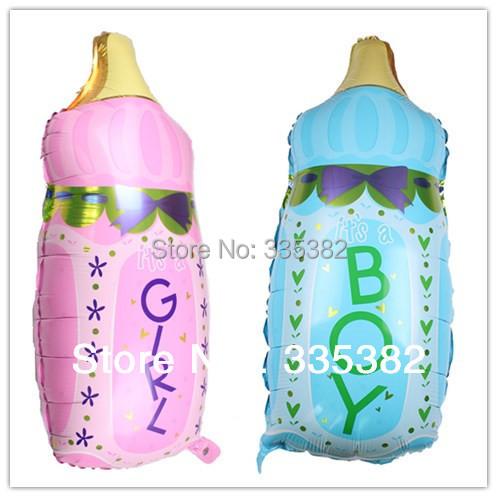wholesale 10pcs/lot 44*82cm feeding milk bottle balloon birthday baby boy foil balloon  happy birthday decoration helium balloon(China (Mainland))