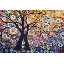 Handpainted 1Set DIY Digital Oil Painting By Numbers The Life Tree Frameless Canvas Abstract Home Wall Decor 40x50cm(China (Mainland))