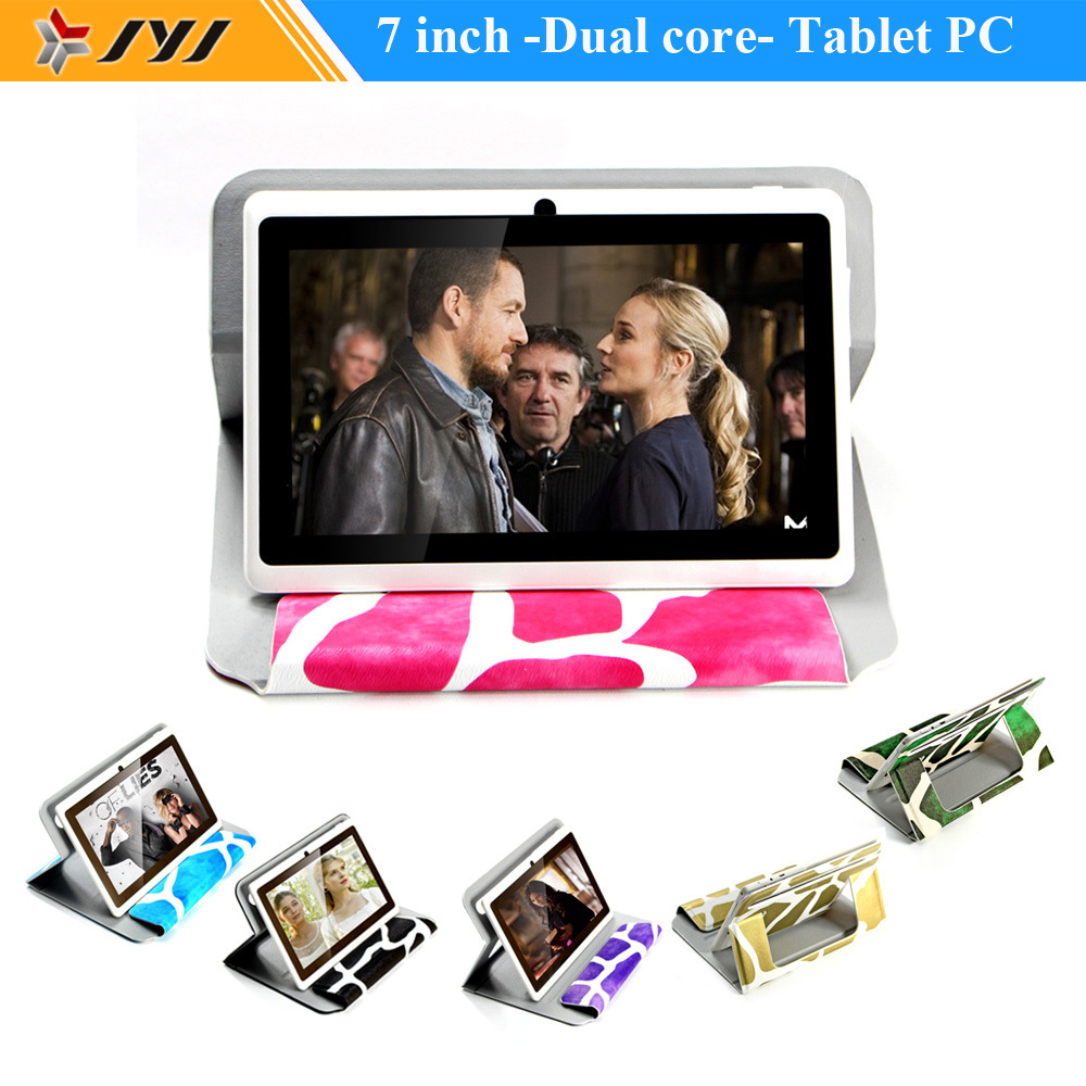 White 7inch Tablet Google 16GB Dual Core Android 4.2 Tablet PC 0.3MP Cameras 1.5GHz Support WiFi Multi Language add color Case(China (Mainland))