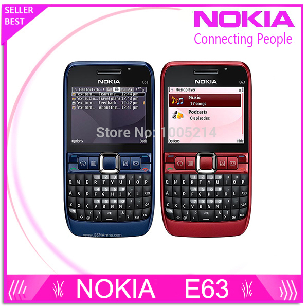 Original phone E63 QWERTY Keyboard Mobile Phone Bluetooth Wifi FM nokia E63 Cell Phone Free Shipping Refurbished(China (Mainland))