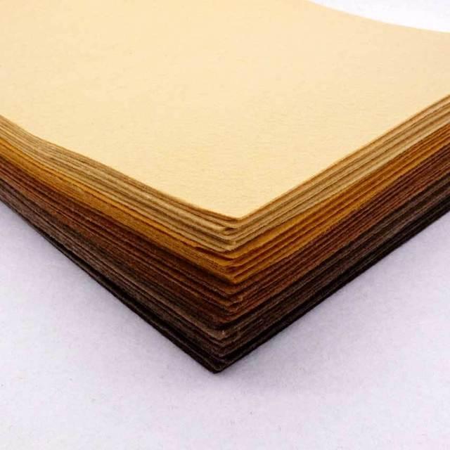 Acheter brown felt tissu patchwork tissu couture polyester tissus non tiss s - Enlever feutre sur tissu ...