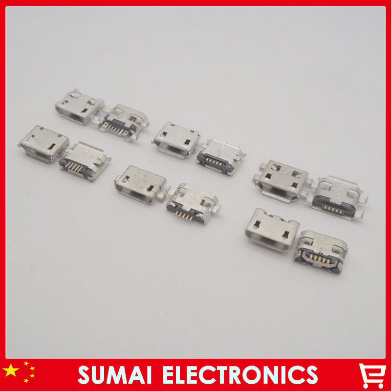 Sample package 6models Micro usb Connector 5p 5pins mini usb Jack for mobile phone tablet pc mid(China (Mainland))