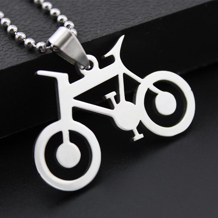 Мода из нержавеющей стали велосипед кулон ожерелье мужчин велосипеды ожерелья винтаж лето прекрасные мужчины ювелирные изделия женщин бижутерии подарки