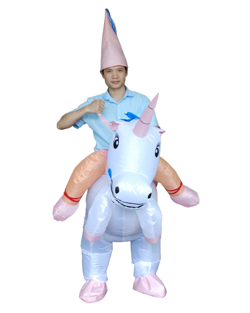 Animal Themed Halloween Costumes For Women Men Children Inflatable UNICORN Costume Fan Blowing Suits Carnival Costumes