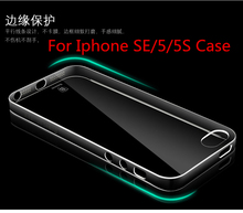 Original Baseus Crystal Clear PC Hard Mobile Phone Back Cover for Iphone SE/5/5S Case Light Shell
