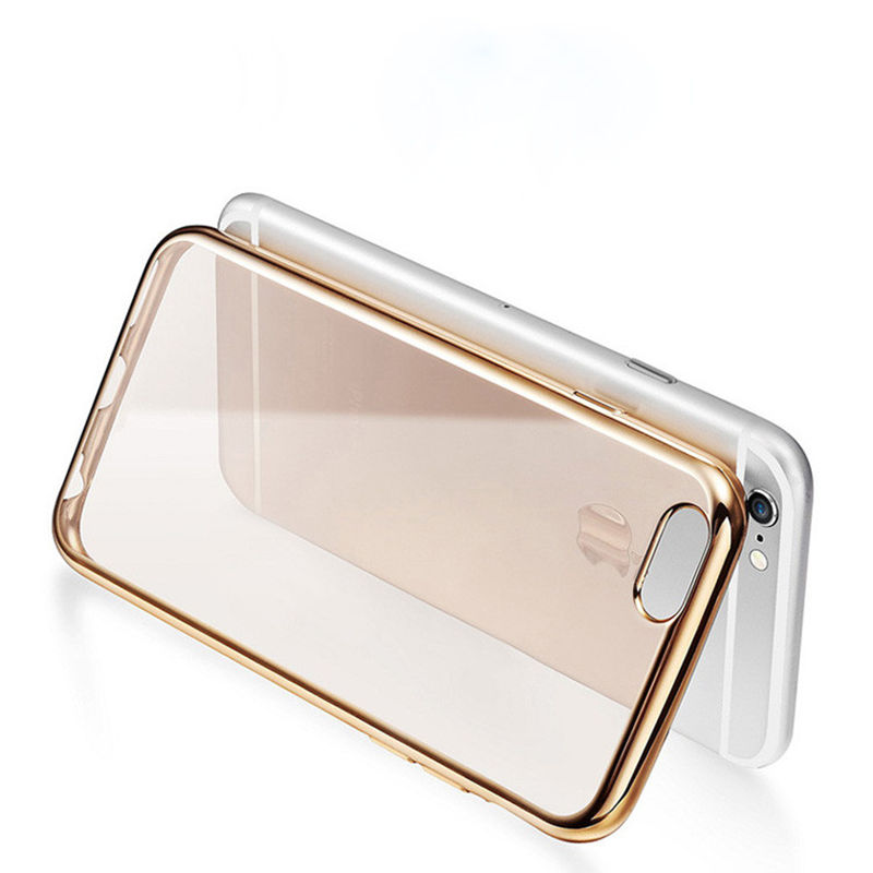 2016 Newest Luxury Gold Plating Electro plating Mobile Phone Cases For iphone 6 6s case Crystal Transparent Case simpsons sale(China (Mainland))