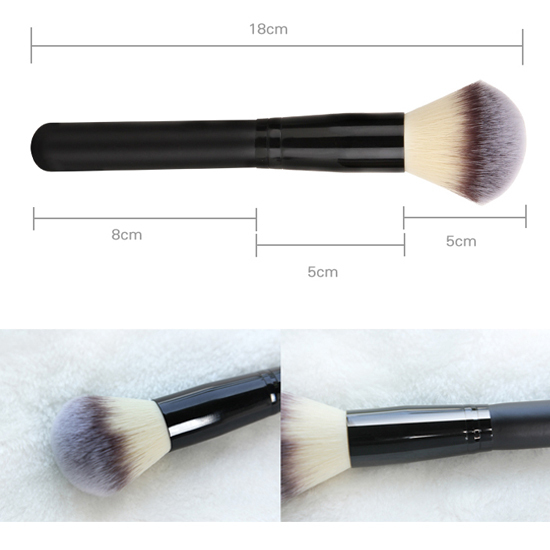 Face Makeup Round Shape Big Powder Brush Soft foundation loose powder cosmetic single brush tool - New Zone Beauty store
