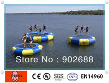 Free shipping and Crazy price!!! water trampoline, high quality ocean inflatable water trampoline park(China (Mainland))