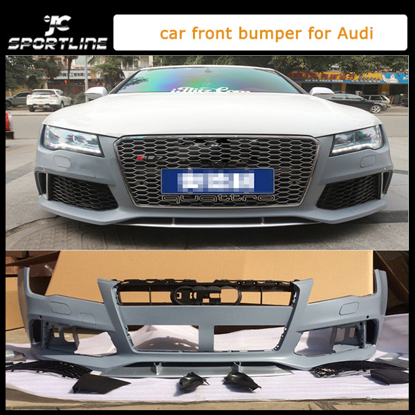 A7 to RS7 style PP Unpainted car front body kit for audi,car auto bumper for A7(fit A7 2013UP)(China (Mainland))