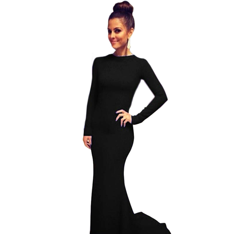 Fashion Women Cotton Hollow Backless Cross Bandage Slim Evening Party Prom Ball Gown Formal Maxi Dress Vestidos CL1785  -  QIQI YUAN's store store