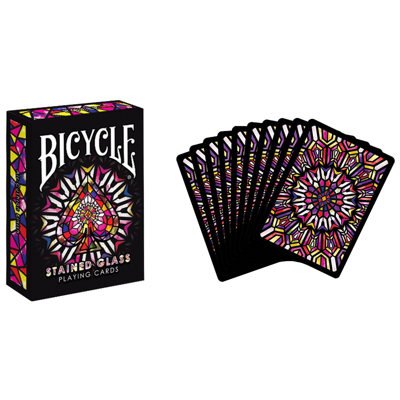 Stained Glass Deck Bicycle Playing Cards Poker Size USPCC Limited Edition Sealed Magic Tricks(China (Mainland))