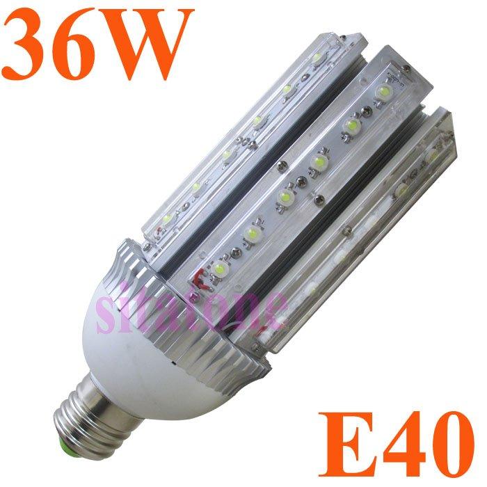 2 years warranty,Free shipping sale AC85-265V E27 E40 36W LED corn light bridgelux 130lm/w ,36*1w led bulb lamp led streetlight(China (Mainland))