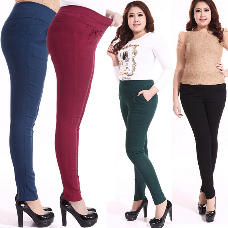 2016 New Autumn winter Excellent Quality Fashion Extra Large Plus Size 3XL-6XL Ladies Pencil Pants Skinny Trousers - TOP Sweater store