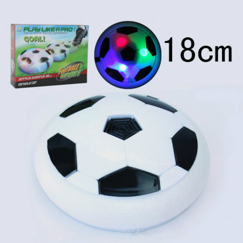 18cm electric suspended football game lighting air cushion football sports toy indoor football field(China (Mainland))