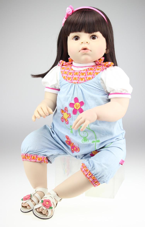 Fashion 28Inch/70cm soft reborn silicone toddler dolls lifelike toddler dolls real looking baby dolls birthdays Christmas gift