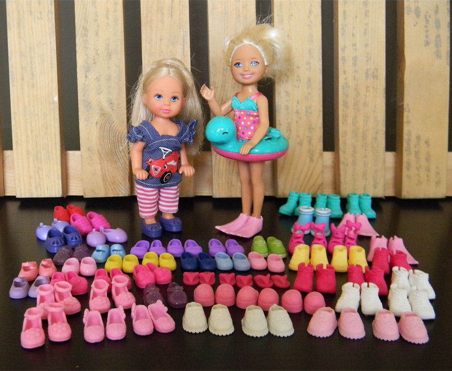 100Pairs/lot Multi-Style Cute Mini Doll Shoes Fashionable Simba Little Kelly Doll Sandles Slippers Boots Kid Toy Shoes Wholesale(China (Mainland))