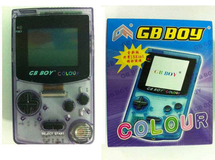 """NEW Limited Edition 2.7""""kong feng GB Boy color colour Handheld Game player Backlut 188 Built-in Games 8bit boy game consoles(China (Mainland))"""