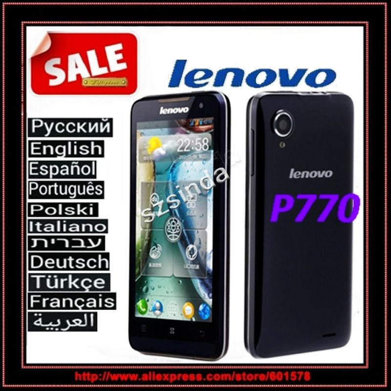 Free Shipping Russian Original Lenovo P770 Android 4.1 MTK6577 4.5inch Capacitive Screen JAVA GPS 3500mAh Dual core mobile phone(Hong Kong)