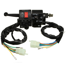 Motorcycle 7/8 Inch Handlebar Horn Turn Signal Electric Switch 12V DC For Suzuki(China (Mainland))