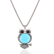 17 Colors 2015 Brand Women Cheap Metal Vintage Charm Owl Necklace Fashion Statement Necklaces Pendants Jewelry