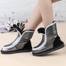 Al por mayor/al por menor 2016 de la venta caliente impermeable clásico nieve botas de piel de Oveja genuino de las mujeres botas de moda los zapatos calientes para las mujeres(China (Mainland))