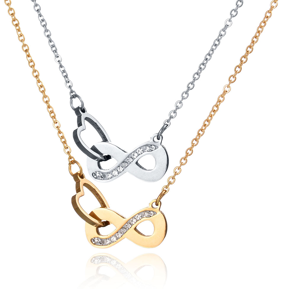 Women Fashion Stainless Steel Collier Femme18K Rose Gold/Gold/Silver Medical Stethoscope Love Heart Collar Body Chain Necklace