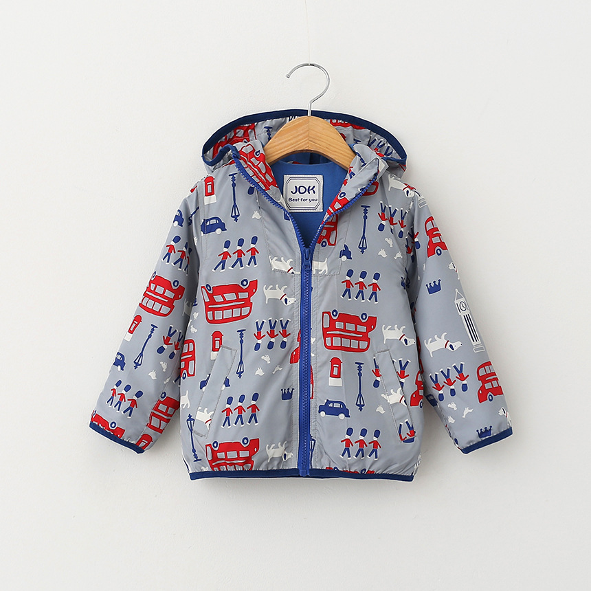 New Design 2016  boy spring jacket kids soldiers printing hooded Coat In Stock wholesale<br><br>Aliexpress