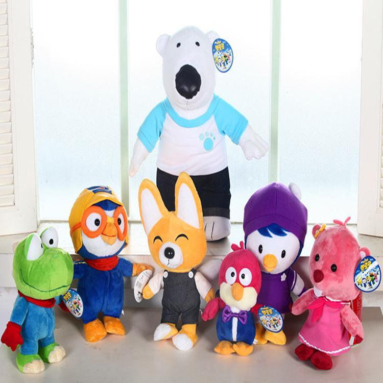 Kawaii Korea Pororo Little Penguin Plush Toys Doll Pororo and His Friends Stuffed Anime Plush Toys Brand Toy Personality Gift(China (Mainland))