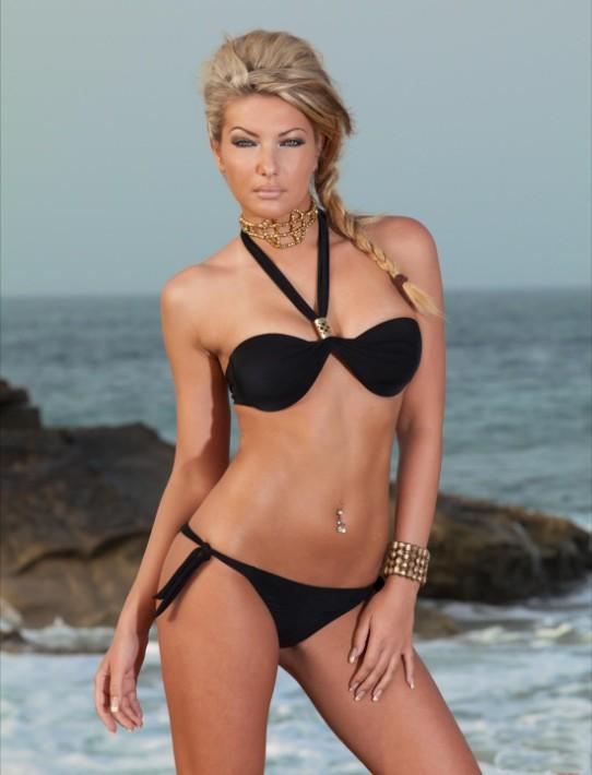 women halter swimwear 5R4223 halter neck style bikini 2014 cheaper price +Fashion style Swimwear mini Bikini Beachwear(China (Mainland))