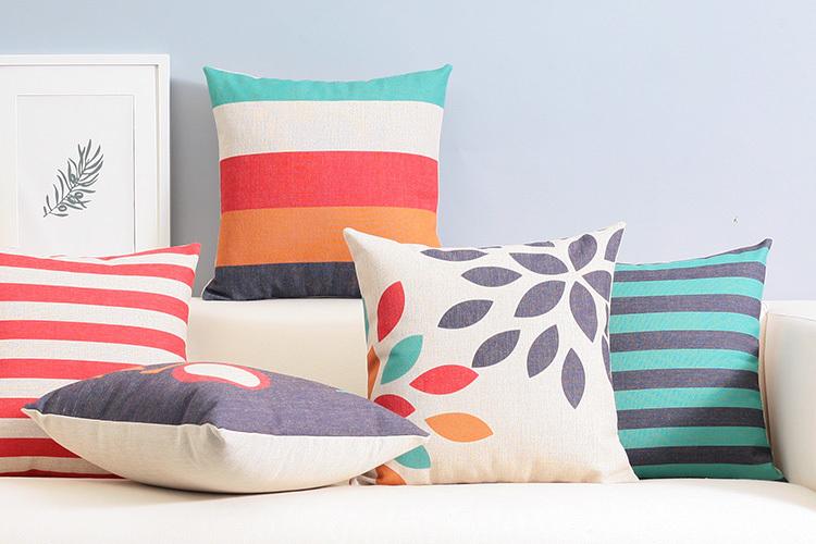 modern Colorful LOVE pillow Abstract geometric cushion Linen pillowcase sofa cushions home decorative Pillows