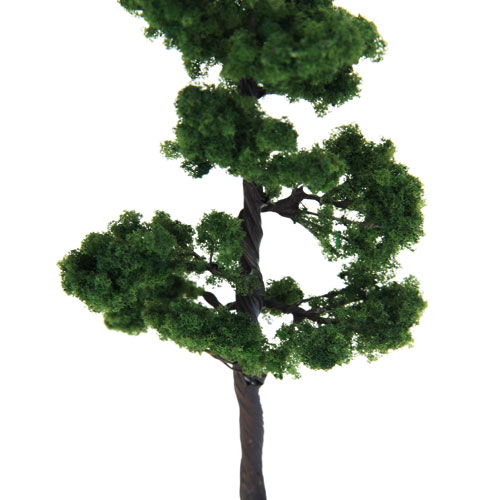 Model Pine Tree Pinus 12cm Green Train Railroad Architecture Diorama HO Scale for DIY Crafts or Building Models