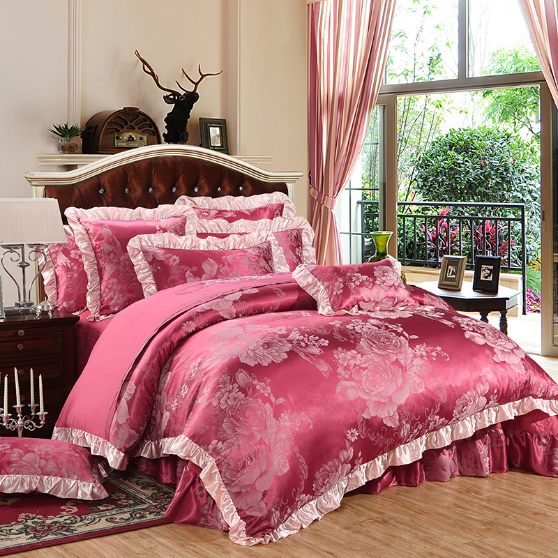 100 Cotton Jacquard 2016 Wedding Bedding Sets Queen King