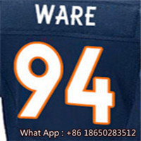 100% Stitched With Customized #7 John #10 Emmanuel #18 Peyton #58 Von #88 Demaryius #94 DeMarcus Men's White Orange Blue Jersey(China (Mainland))
