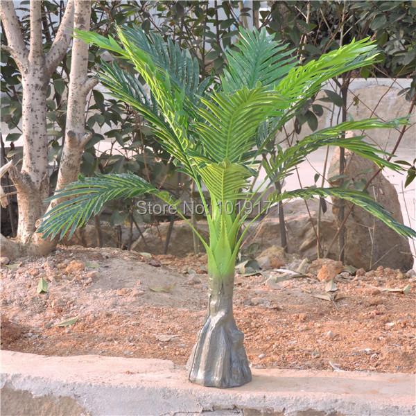 Large Handmade 86 CM Latex Wedding Home Outdoor Patio Sago Furniture Decor Artificial Phoenix Bamboo Palm Plant Tree Green F482(China (Mainland))