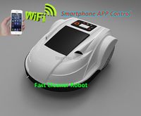 DHL Free Shipping 2015 Newest  Robot Lawn Mower S510 With Ultrasonic sensor,Smartphone control,Water Proofed Charger