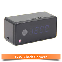 Table Clock Alarm Setting 720P HD H.264 Spy IR Night Vision Camera Wifi Smartphone Camera Wifi IP Clock Camera Motion Detection