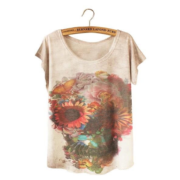 2016 summer new european harajuku printed t shirt t shirt for Printed t shirts wholesale