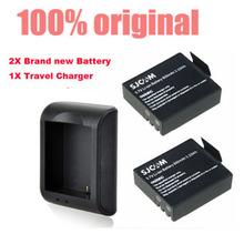 2x900mAh 3.7V Lithium Digital Batteries SJCAM SJ4000 SJ 4000 Battery Bateria +camera Charger For SJ4000 SJ5000 Plus SJ6000